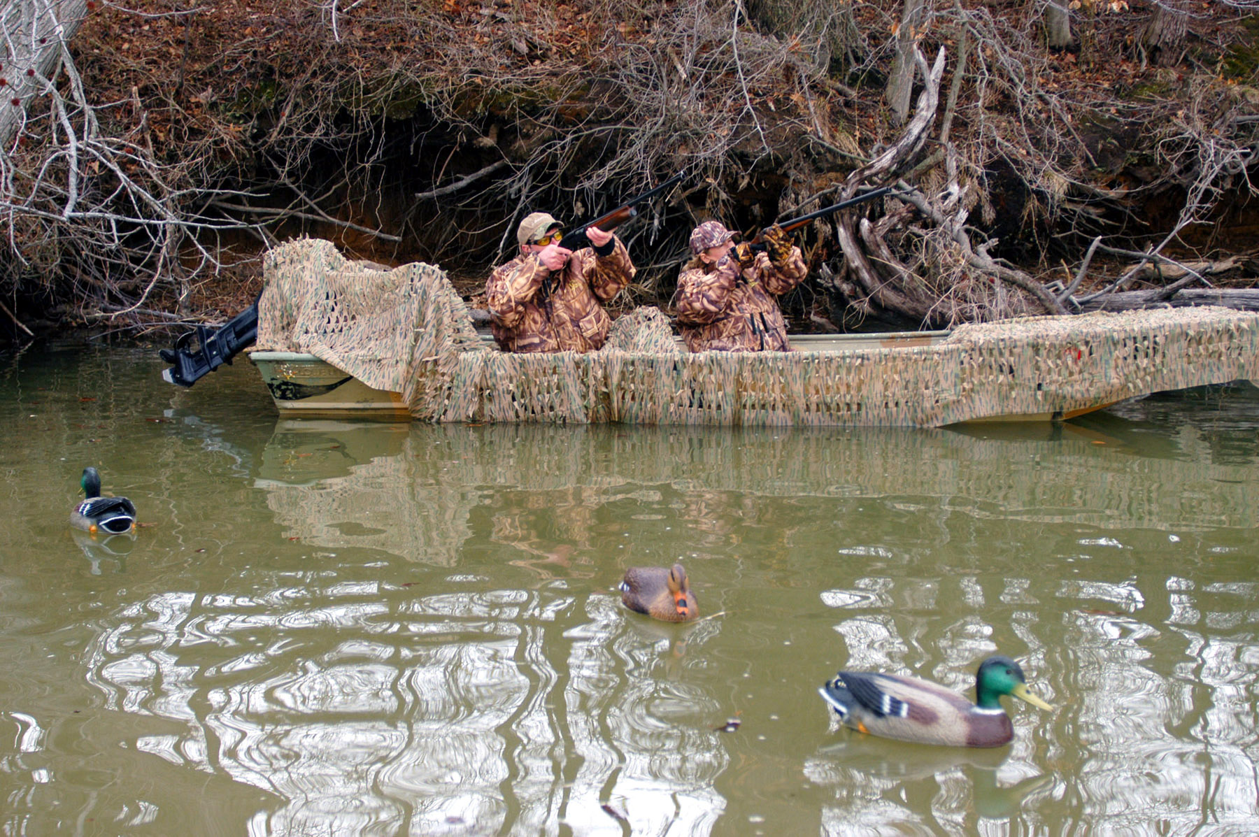 Homemade Duck Boat Blinds